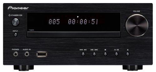 Pioneer XC-HM51-K Micro-Hifi System ohne Lautsprecher (Bluetooth, FM Tuner mit RDS, USB 2.0, Aluminium-Front) schwarz Ipod Lautsprecher Mit Ladefunktion Cd-player