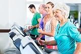 druck-shop24 Wunschmotiv: Gruppe mit Senioren bei Laufband Fitness Sport im Fitnessstudio #90783960...