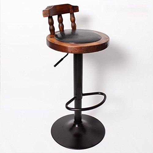 Reine Holz Bar Sessellift Swivel Barhocker Hohe Hocker mit Rückenlehne Stuhl Rezeption Hochstuhl -