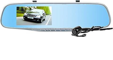 Createstar double lentille Caméra de voiture, 158degrés, Large, enregistreur vidéo