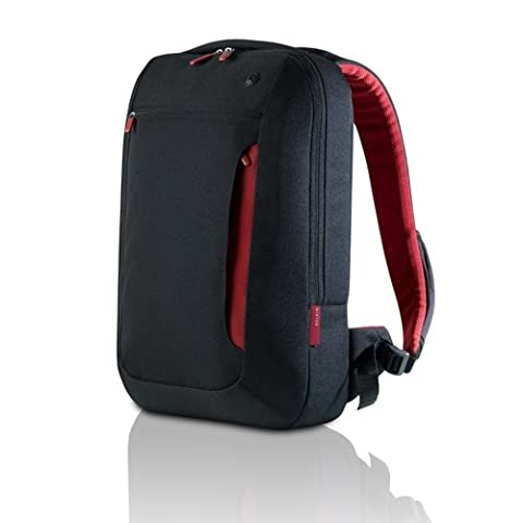 Belkin F8N159 Protective Slim Back Pack for Laptops, Macbooks and Chromebooks up to 17 inch - Black/Red