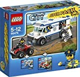 LEGO CITY RESCUE 66476: la Police (60043 - Le Transport Du Prisonnier), les Pompiers (60001 - La Voiture du Chef), Garde-Côtes (60011 - L' intervention du Garde-Côtes)