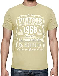 latostadora Camiseta Vintage 1968 la perfección - Camiseta Hombre clásica, Calidad Premium