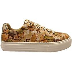 ALVIERO MARTINI 1a Classe 00082 0034515 Beige Sneakers Scarpe Donna Comode