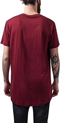 Urban Classics Herren T-Shirt Shaped Long Tee Rot (Burgundy 606) ...