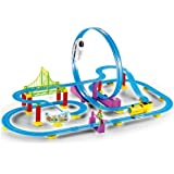 Kiditos (83 Pcs) 3D DIY Paradise Train Track Toy Roller Coaster Set