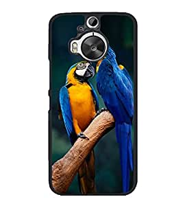 Loving Parrot Pair 2D Hard Polycarbonate Designer Back Case Cover for HTC One M9 Plus :: HTC One M9+ :: HTC One M9+ Supreme Camera