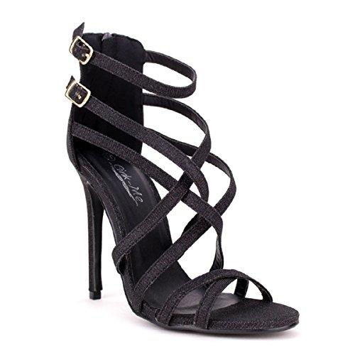 Cendriyon Escarpin Paillettes Noires Lily Chaussures Femme Noir