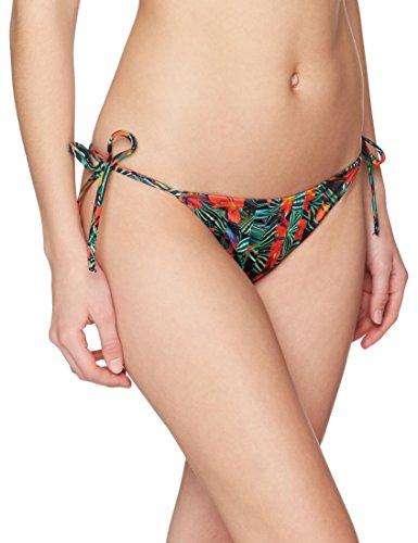 Calvin Klein Damen Cheeky String Side TIE Bikini-Print Bikinihose, Mehrfarbig (Geo Tropic Intense Power 010), 34 (Herstellergröße: XS)