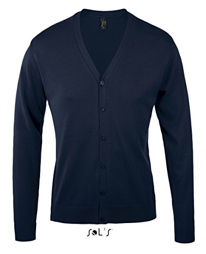 Sol' s – Golden Men Scollo A V Knitted Cardigan blu