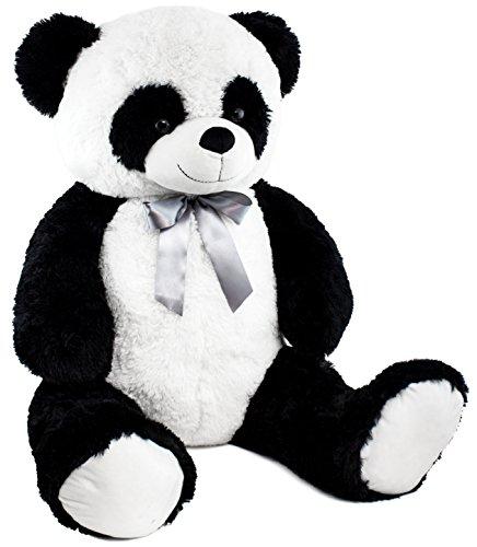 (BRUBAKER Panda 80 cm groß Stofftier Plüschtier Kuscheltier Teddybär)
