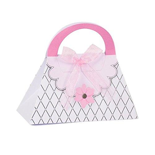 Spacco stock 20 pezzi bomboniere | eventi vari | scatolina fiori rosa fashion bags