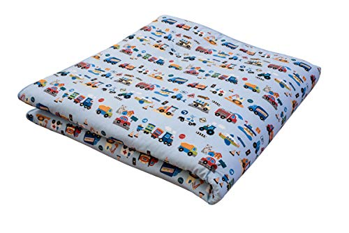 IDEENREICH Baby Krabbeldecke King Size| Auto | 150x180cm | ideal als Spieldecke, Krabbeldecke und Laufgittereinlage