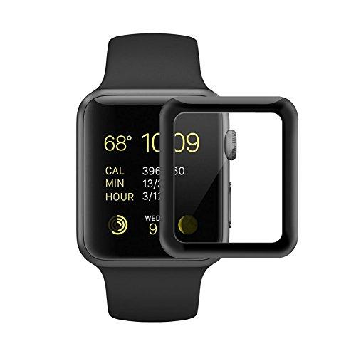 Apple Watch serie 2 Protector de Pantalla [Cobertura Completa] [Resistencia a los Arañazos] 3D de la Serie 2 & 1 de Cristal Templado para Apple Watch (42 mm, Negro) -Misvoice