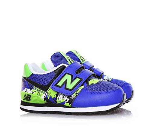 New Balance Nbkg574tni, Sandales pour bébé se tenant debout garçon Bleu - Blu (Blue Green)