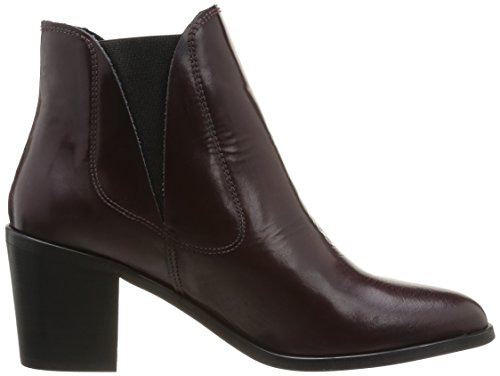 PIECES Umiko Leather Boot Polido Damen Stiefel Violett (Violet (Burgundy))
