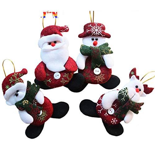 RXZHN Jahr Großhandel 24 Teile/los Red Santa Anhänger Weihnachtsbaum Hängende Ornamente Handwerk für Wohnkultur Liefert