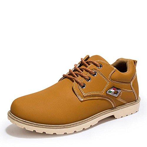Scarpe casual e autunno invernali Martin scarpe scarpe fini di pelli di pecora usura - scarpe resistenti calzature , yellow , 41