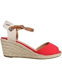 Zapatos de cuña de Mujer MTNG 51846 WICAM ROJO
