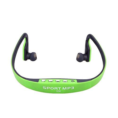 Docooler Tragbarer Sport Drahtloser Headset KopfhörerTF FM Radio Musik MP3 Player mit Mini USB Anschluss