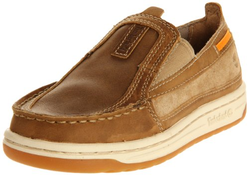 Timberland Ryan Springs Moc Toe Boat Shoe (Toddler/Little Kid/Big Kid),Brown/Brown,6 M US Big Kid Gore Moc