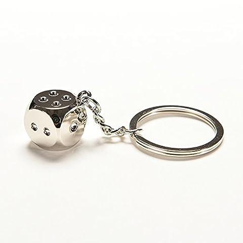 Wetrys 1 Pcs Dice Keychain Car Key Ring Chain Metal