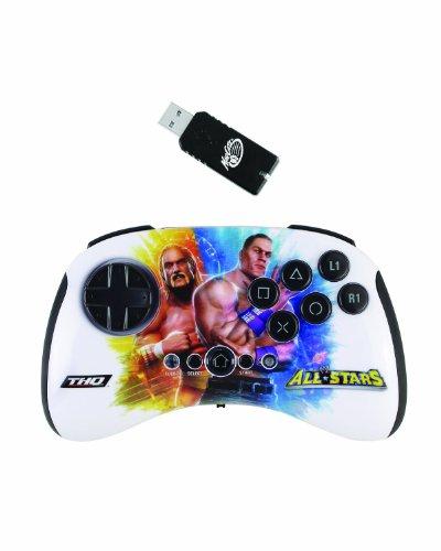 Mad Catz WWE All Stars Wireless brawlpad: Hulk Hogan VS John Cena Controller Playstation 3, Mehrfarbig-Zubehör von Videospielen (, Gamepad Playstation 3, d-pad, auswählen, starten, Turbo, kabellos, Gameport)
