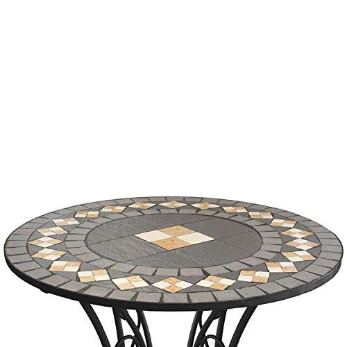Runder Mosaiktisch Ø70cm Mosaik Gartentisch Beistelltisch Balkontisch