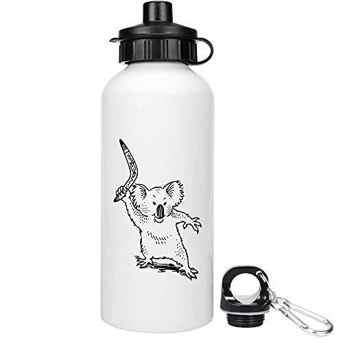 Azeeda 600ml 'Koala Mit Bumerang' Trinkflasche / Wasser-Flasche (WT00029365)