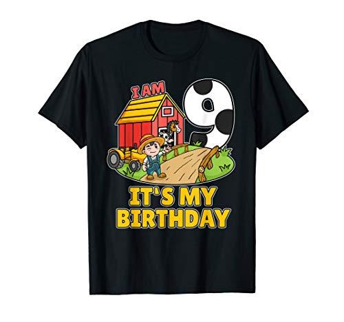 Kostüm Bauer Shirt - 9. Geburtstag Bauer Shirt Landwirt Ich Bin Schon 9 Jahre T-Shirt