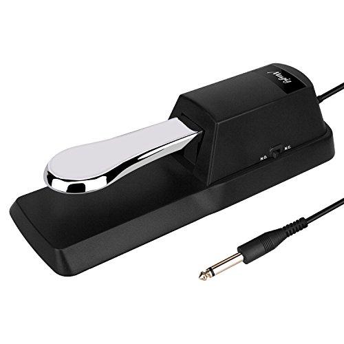 Mugig Pedal de Sustain Universal de Tipo Piano, la Parte Inferior con Goma Antideslizante, Perfecto para Piano digital, Teclado electrónico, Teclado controlador y Teclado Midi