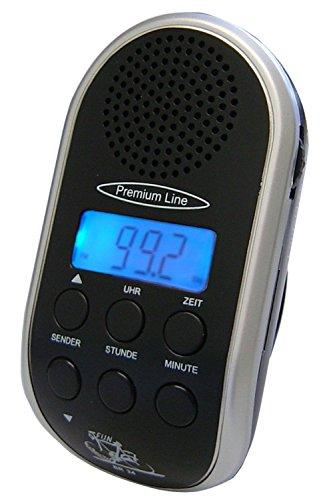 Fahrradradio mit MP3-Anschluss, LCD-Anzeige , Hintergrundbeleuchtung, Uhr und Leucht-LED ~ extrem senderstabilem Empfang durch PLL-Tuner, automatischer Sendersuchlauf