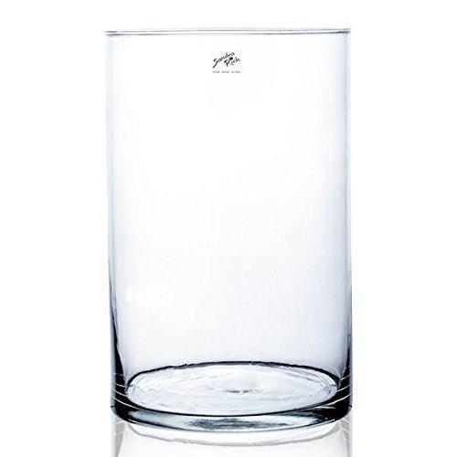 YLI Glas zylindrisch rund H. 30cm D. 19cm Sandra Rich (Runde Glas-vasen)