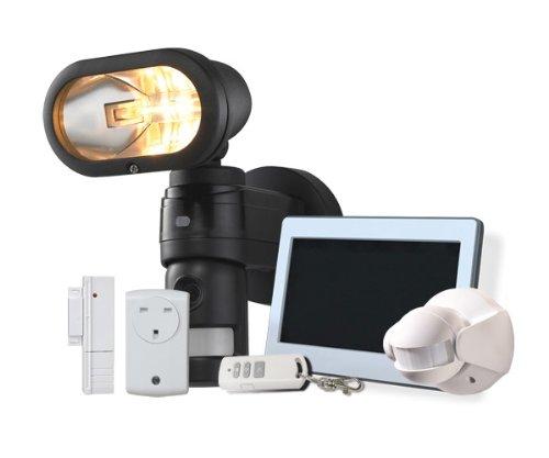 Netzteil-FIT-Neue-kabellos-Haussteuerungs-Funkalarmanlage-1778-cm-TOUCHSCREEN-Tastatur-Bedienfeld-kabellos-2-4-PIRs-Trenkontakt-4-Aufklebern-Sicherheitslampe-Kamera-Sirene