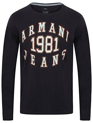 Armani Jeans -  T-shirt - Uomo BLU-BLUE