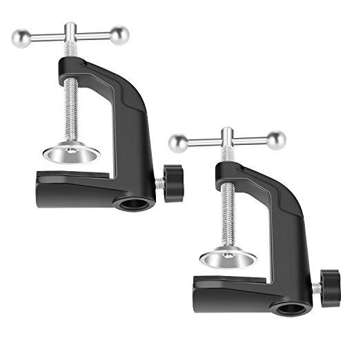 Neewer Staffa di fissaggio metallo per braccio di sospensione microfono supporto con vite di posizionamento regolabile fino 4.5 di spessore colore