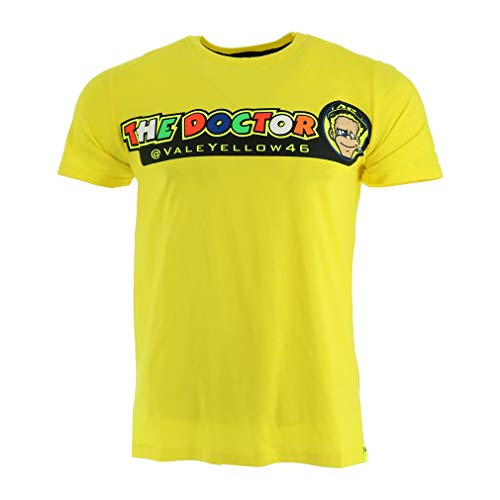 Valentino Rossi VRMTS305501001, T-Shirt VR46,The Doctor Herren, gelb, Large 110cm/43in Chest