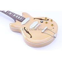 RGM24 John Lennon Beatles Epiphone guitarra en miniatura miniaturas de guitarra de Rock medroso John Lennon chaparron conservador Abbey Road All Things Must Pass viene el Sol algo submarino amarillo