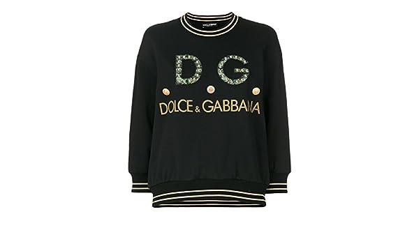Dolce & Gabbana Felpa Donna F9a27zfu7dun0000 Cotone Nero