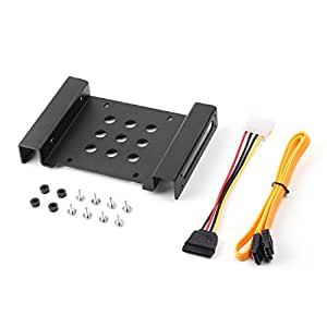 Salcar Kit di Montaggio cornice per Disco Rigido a 2.5 & 3.5 Pollici HDD SSD mobile rack staffa supporto caddy adattatore guide di montaggio incl. Viti e cavo SATA