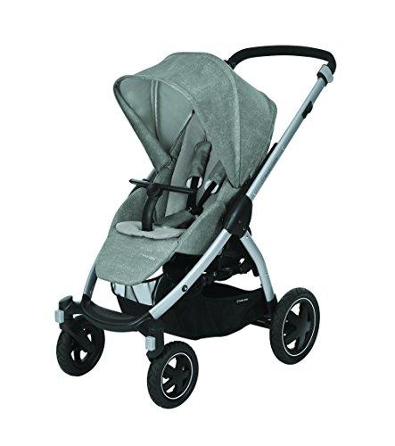 Maxi-Cosi Stella Kinderwagen mit extra großem Verdeck und Outdoor-Reifen, extrem wendig und in Kombination mit Babyschale oder Babywanne ab der Geburt nutzbar (0-15 kg), nomad grey