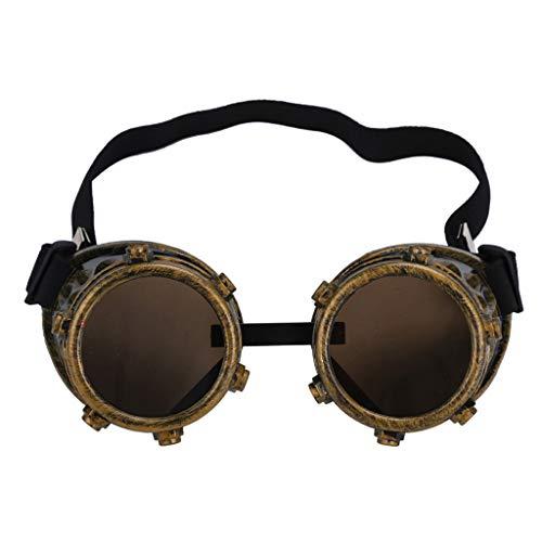 Zolimx Steampunk Goggles Vintage Style Schweißpunk Gläser (A) (Steampunk Kostüm Bilder)