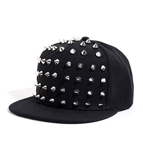 Baseballmütze Unisex Punk Igel Hut Jazz Spike Studded Rivet Spiky Baseball Cap für Hip Hop Rock Dance Bons Papa Hüte