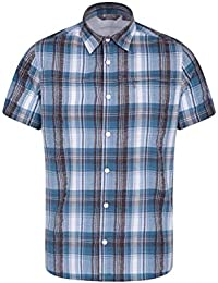 a41761b96b8b3 Mountain Warehouse Holiday Camisa de algodón para Hombre - Camisa de Verano  Easy Care
