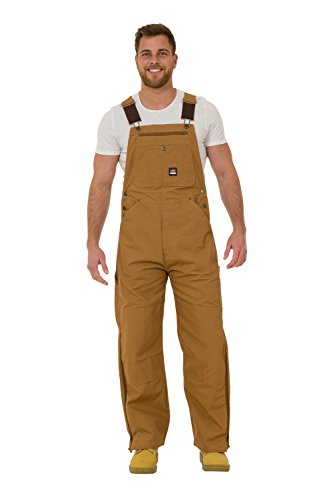 Berne - Arbeitslatzhose - Braun herren arbeit jeans-latzhosen männer BERNE04-48W-32L