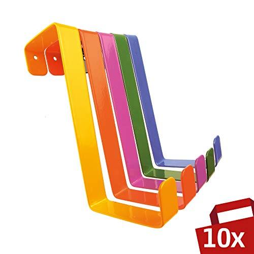 Sobre ganchos puerta 10 piezas - Hecho Alemania -