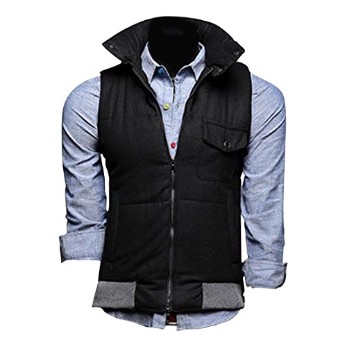 Jeansian Hommes Manteau Classic Fashion Hoodie Casual Gilet Coat Jacket 9316 Black