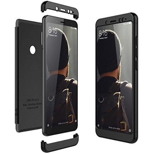 CE-Link für Xiaomi Redmi Note 5 Hülle Hardcase 3 in 1 Handyhülle 360 Ultra Dünn Slim Schutz Hard Schutzhülle Bumper - Schwarz