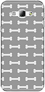 The Racoon Grip printed designer hard back mobile phone case cover for Samsung Galaxy A8. (Gray Dog B)