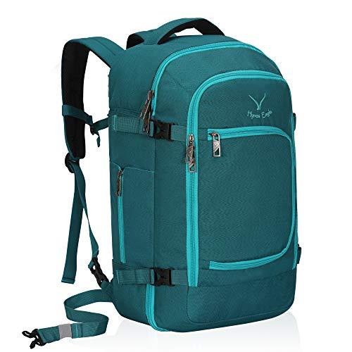 n Großer Reiserucksack Handgepäckkoffer Handgepäck im Flugzeug 51x34x25cm Grün blau ()